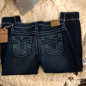 Kids True Religion fitted ankle jeans size 6 NWT